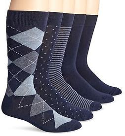 Amazon Essentials Men's 5-Pack Patterned Dress Socks, Assort