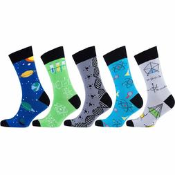 Socks n Socks-Men's 5-pair Luxury Fun Cool Cotton Colorful D