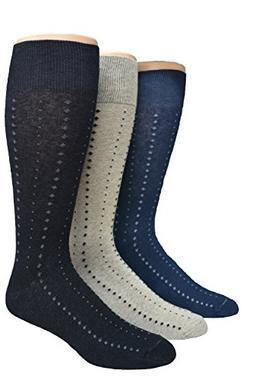 Men's Big & Tall Classic Patterned Dress Sock Asst. 3 pack ,