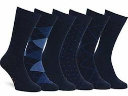 Easton Marlowe Men's Classic Subtle Pattern Dress Socks - 6p