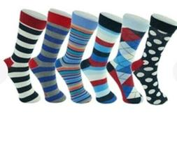 Alpine Swiss Men's Cotton 6 Pack Dress Socks Solid Ribbed Ar