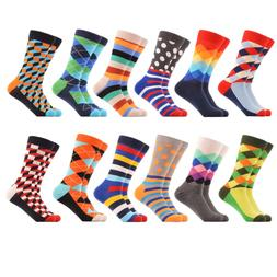 WeciBor Men's Dress Party Colorful Funny Cotton Crew Socks 1