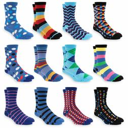Men's Dress Socks Colorful Funky Patterned Crew Socks For Me