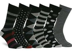 Easton Marlowe Men's Dress Socks Subtle Patterns - 6pk
