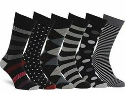 Easton Marlowe Men's Dress Socks Subtle Patterns - 6pk #38,,