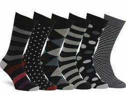 Easton Marlowe Men's Dress Socks Subtle Patterns - 6pk #38 A