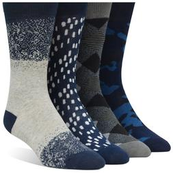 Men's Funky Variety Dress Socks  Navy Blue Gray