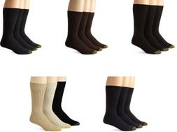 Gold Toe Men's Premium Canterbury Dress Crew Socks, Assorted