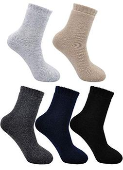 Men's Thick Sock Warm Super Soft Wool Winter Ankle Pure Colo