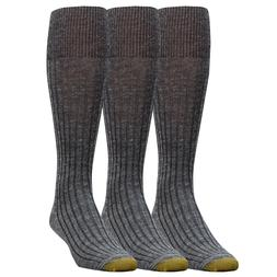 Gold Toe Men's Windsor Wool Over-the-Calf Sock 10-13 Navy or