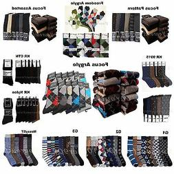 Men Socks Lot Dress Socks 6-12P Fashion Casual Pattern Desig