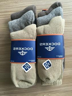 Dockers Mens 3-pk. Khaki Performance Crew Socks 6-12 Khaki b