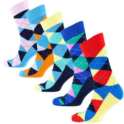 Socks n Socks-Mens 5pair Luxury Colorful Cotton Fun Novelty