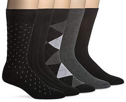Men's Classic Dress Socks Black and Navy Assorted