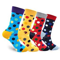 Mens Cool Colorful Novelty Funny Athelic Running Dress Socks