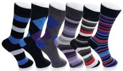 Alpine Swiss Mens Cotton 6 Pack Dress Socks Solid Ribbed Arg