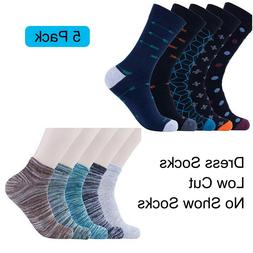 Mens Cotton Socks 5 Pack Large Size Non Slip Breathable Low