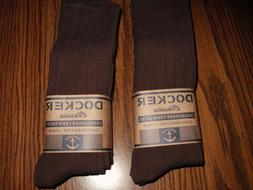 MENS DOCKER DRESS SOCKS CHOCOLATE BROWN 6 PAIR FREE SHIPPING