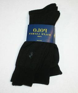 Polo Ralph Lauren Mens Dress Socks 3 Pairs Shoe Size 6-12.5