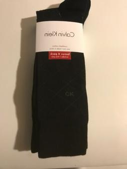 Calvin Klein Mens Dress Socks 4 Pack