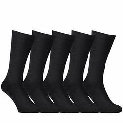 Mens Dress Socks Cotton Seamless Toe,Non-Binding Top Men Cas