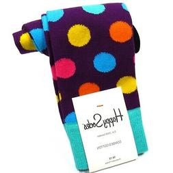 HAPPY SOCKS Mens Dress Socks - Large Polka Dot Pattern - Tur