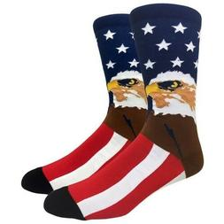 Fine Fit Mens Novelty Crew Dress Socks - LARGE - American Ea