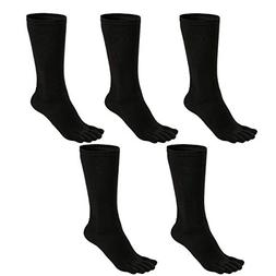 Mens Toe Socks Cotton Athletic Running Five Finger Crew Sock