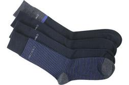 Calvin Klein Men's 4-Pairs Navy Stripe/Contrast Assorted Cre