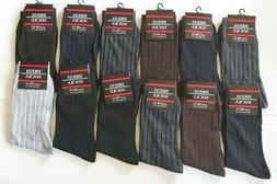 New 12 Pairs Mens Classic Dress Socks Fashion Casual Cotton