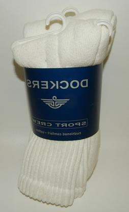 NEW NOS Dockers Mens Cushioned Comfort White Sport Crew Sock