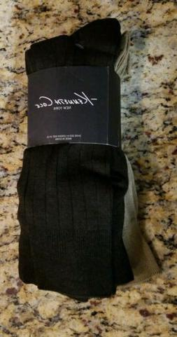 Kenneth Cole New York Dress Socks Men's Brown and Beige 6 Pa