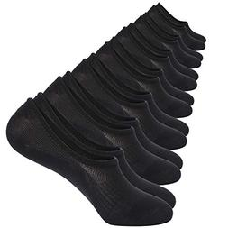 No Show Socks 7 Pack Cotton Non Slip Low Cut Invisible Loafe
