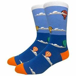 Novelty Fun Crew Print Socks for Dress or Casual
