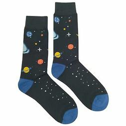 NWT Universe Dress Socks Novelty Men 8-12 Black Fun Sockfly