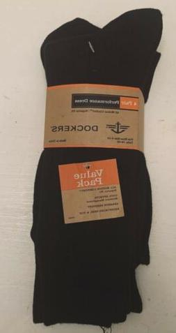 Pack Of 4 Mens Dockers Performance Dress Socks Navy Blue Sz