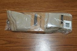 Dockers Performance Dress 3 pair socks shoe size 6-12 khaki
