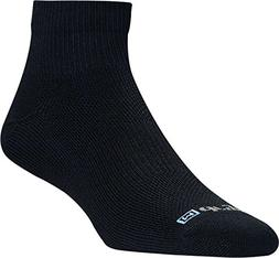Drymax Run Thin 1/4 Crew Sock - Black Large