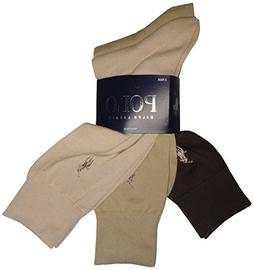 Polo Ralph Lauren Set of Three Men's Dress Socks- Multi -