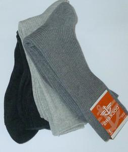 Dockers Size 6-12  3 Pack Pair Lot Pack Socks Gray Cotton Bl