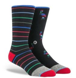 Stance Smithers Black Striped Pelican Dress Socks Men's Size