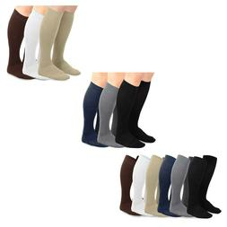 TeeHee Men's Bamboo Dress Over the Calf Socks Assorted Color
