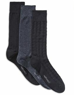 Calvin Klein Textured Dress Socks 3-Pack, Shoe Size 7-12, MS