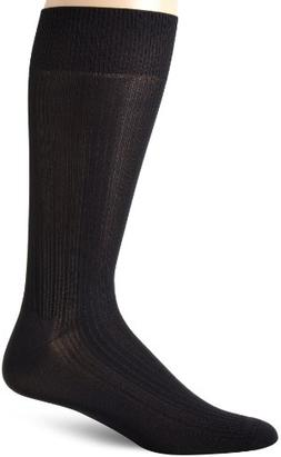 Perry Ellis Men's Varigated Rib Microfiber Luxury Dress Sock