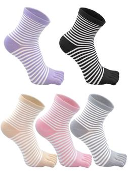 Women Comfy Low Cut Toe Socks with Breathable Mesh and Reinf
