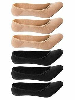 Women's No Show Liner Socks 6 Pairs Ultra Low Cut Nylon Casu